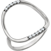 14kt White 1/10 CTW Diamond Ring