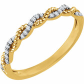 14kt Yellow .08 CTW Diamond Stackable Ring