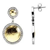 14k Two-Tone 5/8 CTW Diamond Earrings