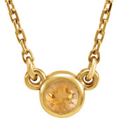"14kt Yellow Citrine 16"" Necklace"
