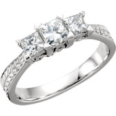 1 CTW Diamond 3-Stone Anniversary Ring - W63030