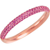 14kt Rose Pink Sapphire Anniversary Band  - W68372