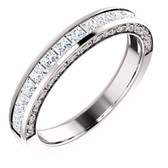 7/8 CTW Square Diamond Anniversary Band - W122752