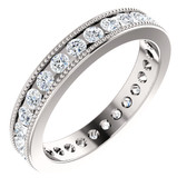 7/8 CTW Diamond Milgrain Eternity Band  - W122756