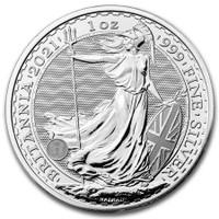 1 Oz British Silver Britannia - A tube contains 25 coins.