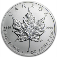 Canadian Silver Maple Leaf 1 Oz