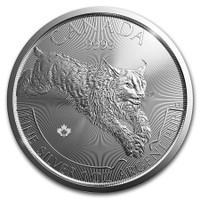 2017 Silver 1 Oz Canadian Lynx Reverse