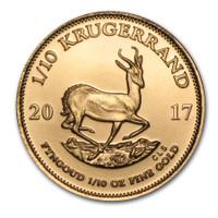 1/10 Oz Krugerrand Bullion. Generic image.