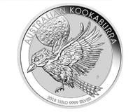 1 Kg Silver Australian Kookaburra Reverse