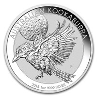 2018 1 Oz Silver Australian Kookaburra Reverse
