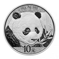 2018 30 Gr Silver Chinese Panda Reverse