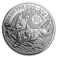 2018 1 Oz Silver British Year of the Dog Reverse