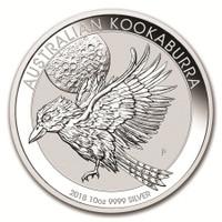 10 Oz Silver Australian Kookaburra Reverse
