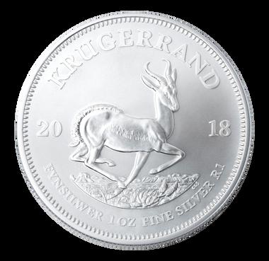 Bullion Silver 1 Oz Krugerrand - Reverse
