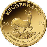 1 Oz Bullion Krugerrand - Generic image.