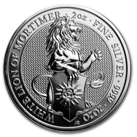 2020 Silver White Lion 2 Ounce.