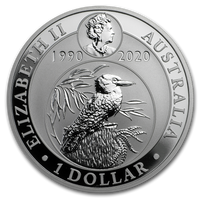 2020 Silver Kookaburra 1 Oz - 30th Anniversary design