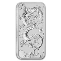 1 Oz Silver Australian Rectangular Dragon