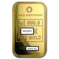 Bullion Bar 10gr Gold. Image is generic.