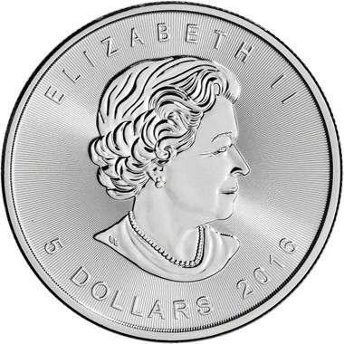 Silver Canadian Maple Leaf 1 Oz