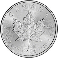 1 Oz Silver Canadian Maple Leaf