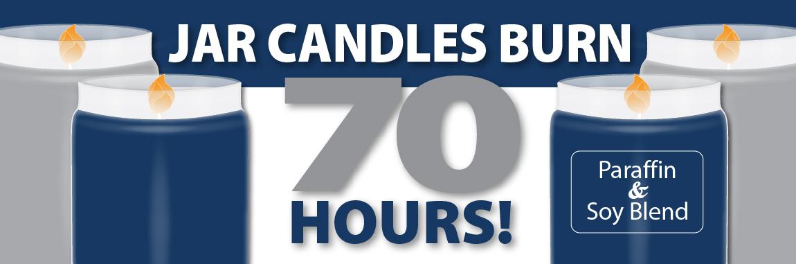 Jar Candles Burn 70 Hours!