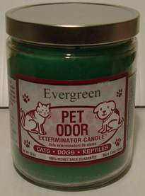 Evergreen Pet Odor Eliminator Candle