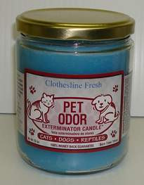 Clothesline Fresh Pet Odor Eliminator Candle