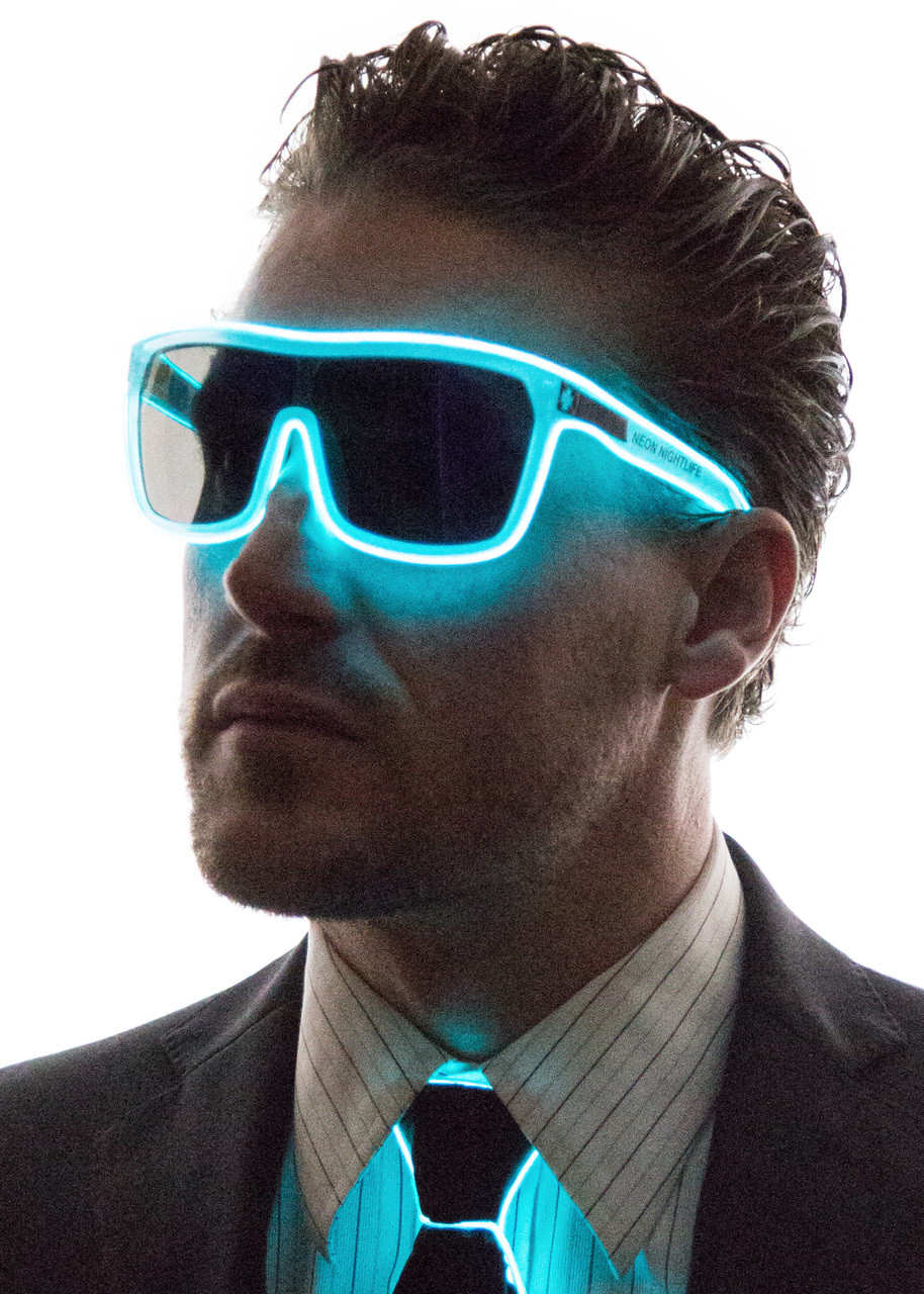 a1d2115ab9 Tron Inspired Light Up Glasses - Neon Nightlife