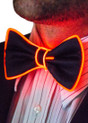 Red EL Wire Light Up Bow Tie