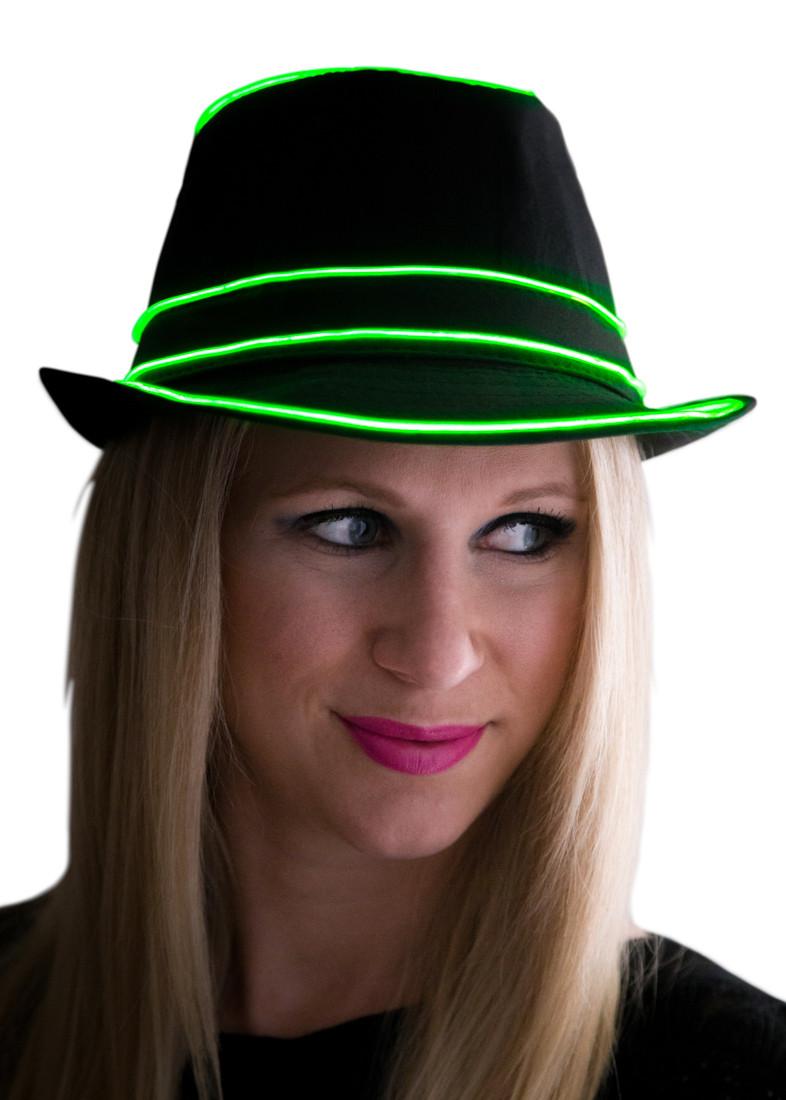 ... Light Up Fedora Hat. Loading zoom 0f69ecc4670
