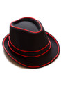 Red EL Wire Light Up Fedora Hat