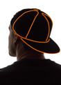 Orange Light Up Snapback Baseball Hat