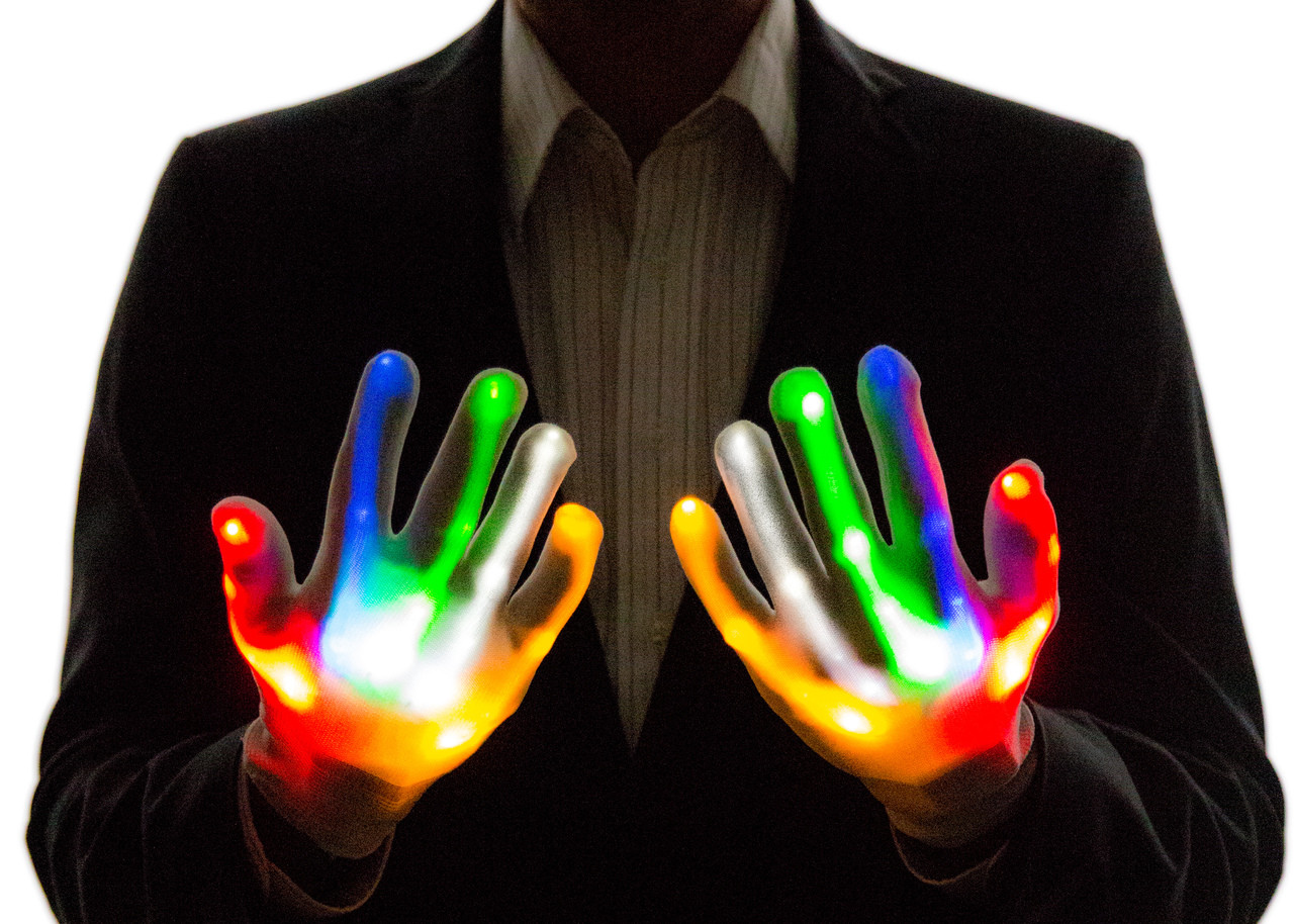 Youth Sized LED Light Up Gloves - Neon Nightlife 507b017f2766