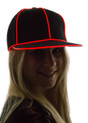 Red Light Up Snapback Baseball Hat for Women