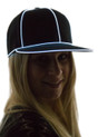 White Light Up Snapback Baseball Hat for Women