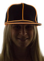 Orange Light Up Snapback Baseball Hat for Women