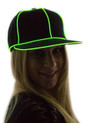 Green Light Up Snapback Baseball Hat for Women