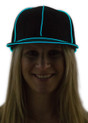 Aqua Light Up Snapback Baseball Hat for Women