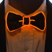 Orange light up bowtie for kids