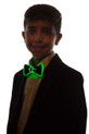Green light up bow tie for kids