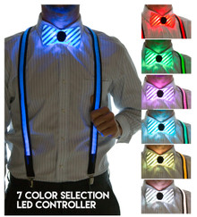 Light Up Bowtie & Suspenders Set