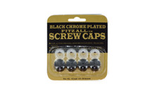 Black Coated Screw Covers 4 Per Card, Fits 10mm, 12mm And 1/4 Inch Screws
