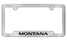 Pontiac Montana Bottom Engraved Chrome Plated Brass Black Imprint