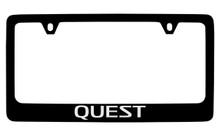 Nissan Quest Black Coated Metal License Plate Frame Holder