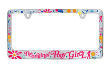 Ford Mustang The Original Pony Girl With Multiple Screen Printed Graphics Plastic License Plate Frame