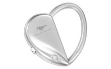 Mustang Heart/Oval Interchangeable Shape Keychain Embellished With Swarovski Crystals