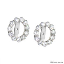 Earring Jacket Made With Swarovski Zirconia (JZ001)