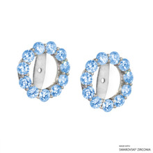 Earring Jacket Made With Swarovski Zirconia (JZ003)