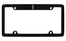 Lincoln Logo Top Engraved Black Coated Zinc License Plate Frame Holder With Silver Imprint